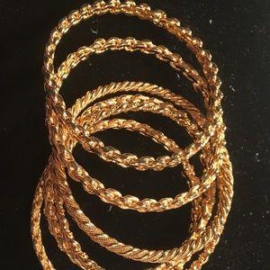 Jewelry - Goldtone bangles. 6